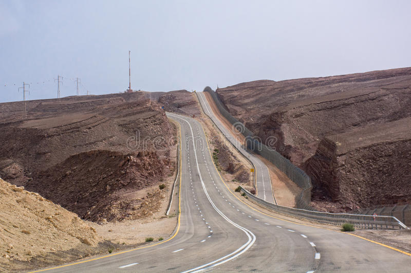 Road to Eilat Israel stock image