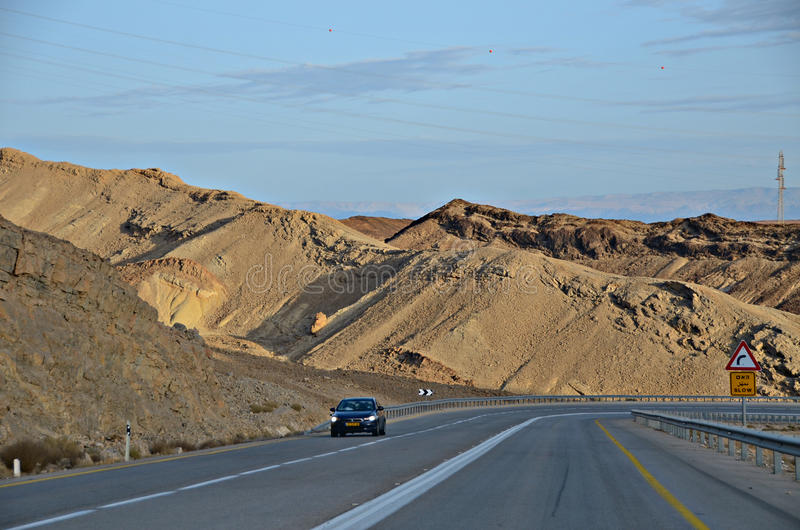Road to Eilat stock photography