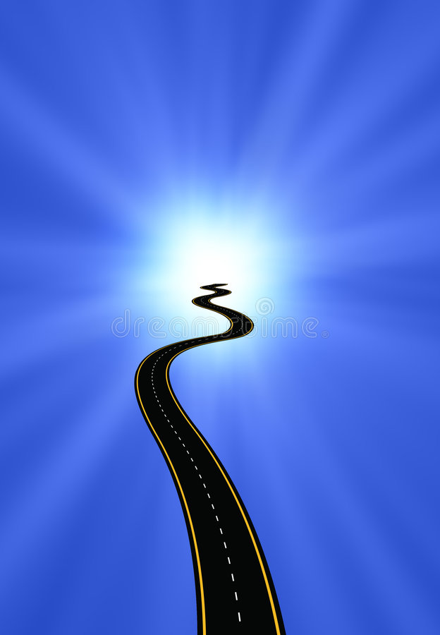 Road to Enlightenment vector illustration