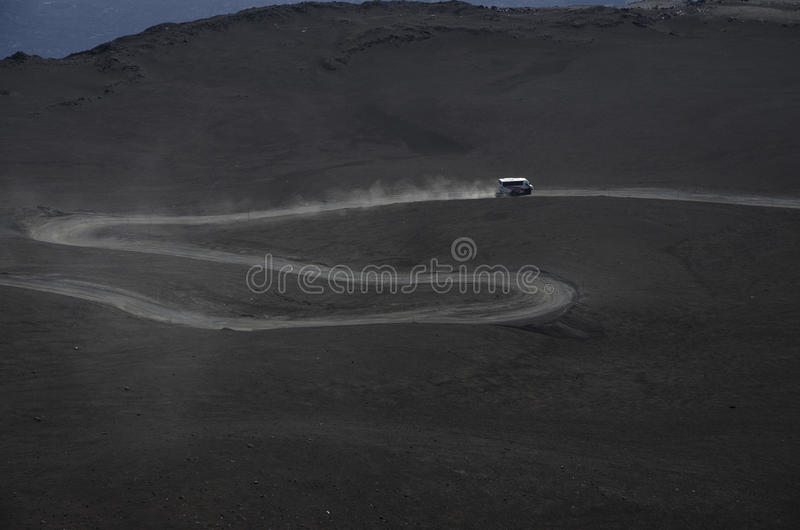 Download Road to Etna stock image. Image of climbing, mid, moving - 27191521