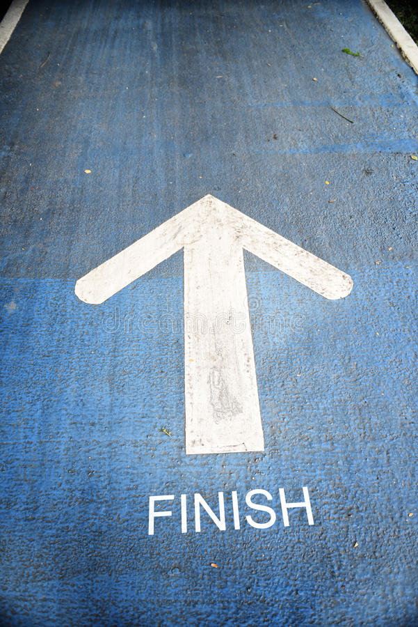 Road to the finish royalty free stock images