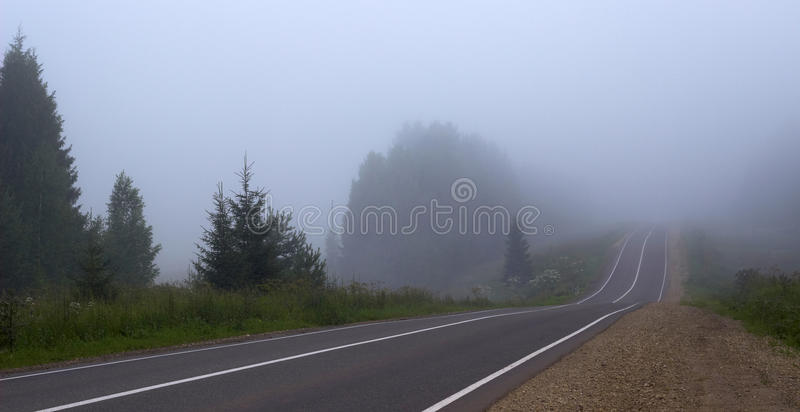 Download The road to a fog stock photo. Image of long, grey, road - 25735510