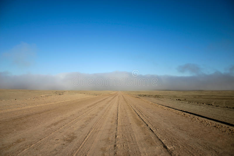 Road to fog royalty free stock image