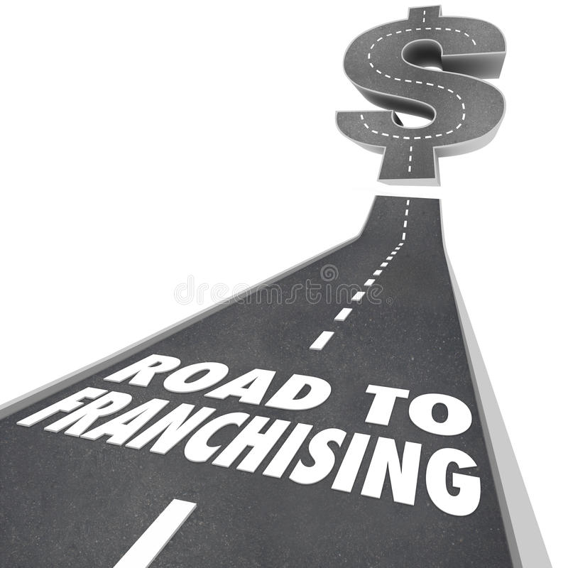 Free Road To Franchising Money Making Opportunity New Chain Business Royalty Free Stock Photos - 38332068