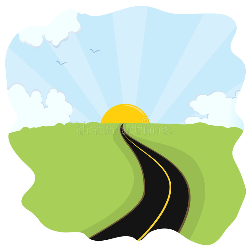Download Road to the future stock vector. Image of road, hill, dividing - 8832777