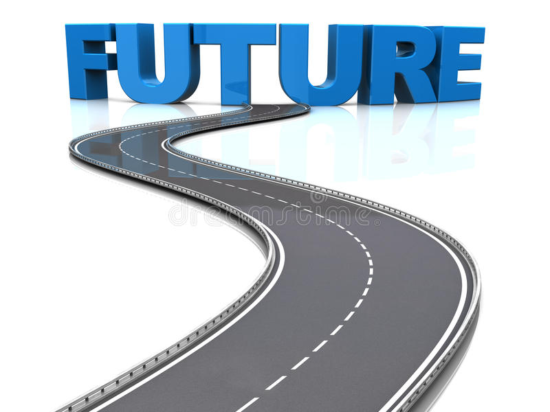 Road to future royalty free illustration