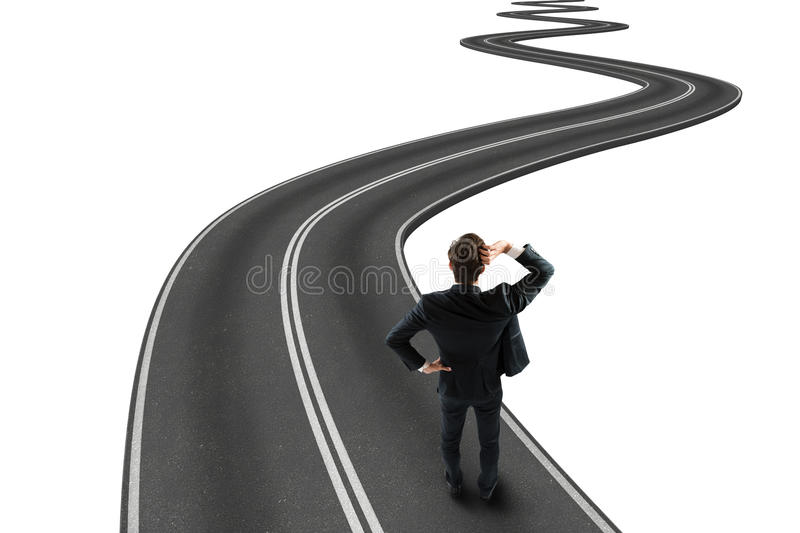 Road to goal 3D Rendering stock photography