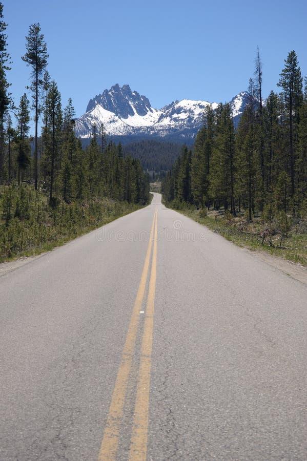 Road to Grand Teton royalty free stock photo