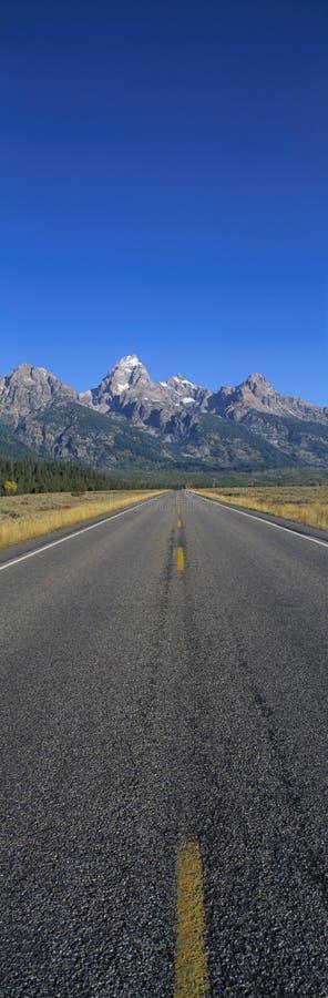 Road to Grand Teton National Park royalty free stock photos