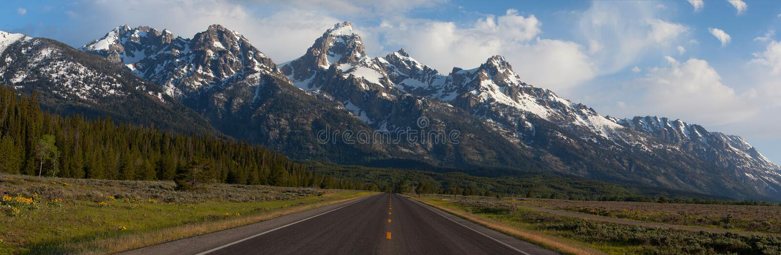 Road to the Grand Tetons royalty free stock images