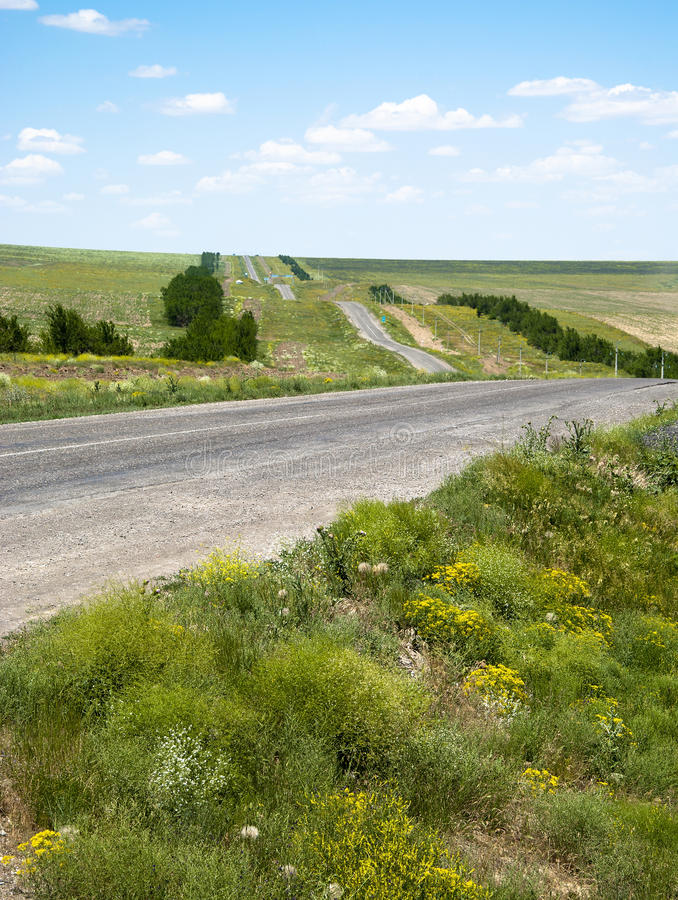 Free Road To Green Field Royalty Free Stock Images - 25532989