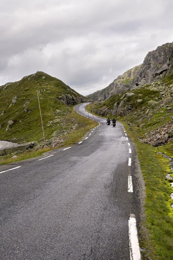Road to Haugesund in Norway. Way between clouds and mountains in Haugesund in Norway royalty free stock images