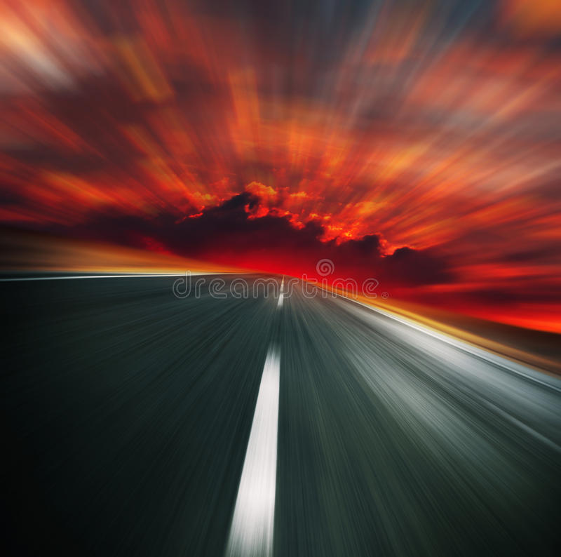 Road to Hell stock photos