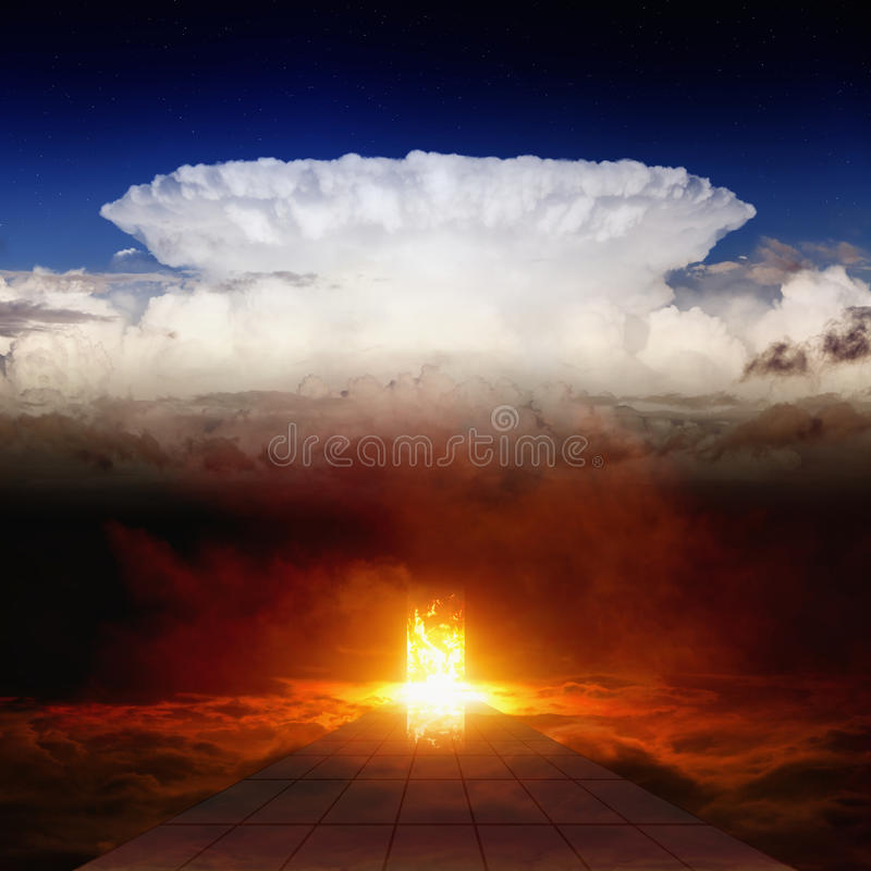 Road to hell royalty free stock photography