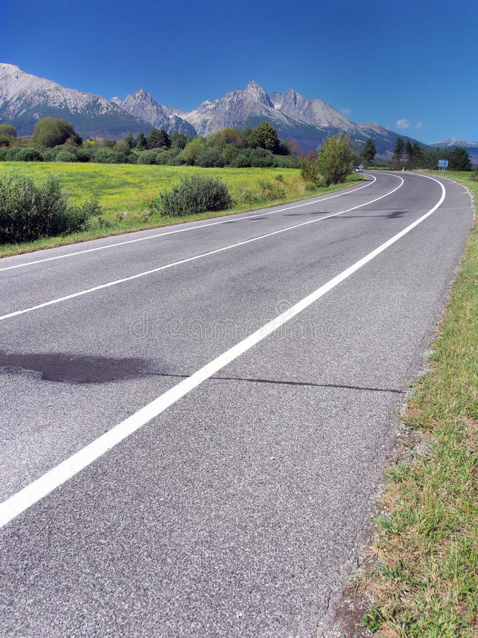 Road to High Tatras in summer royalty free stock photos