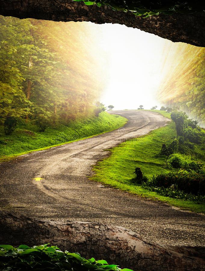 Road to the hills royalty free stock image
