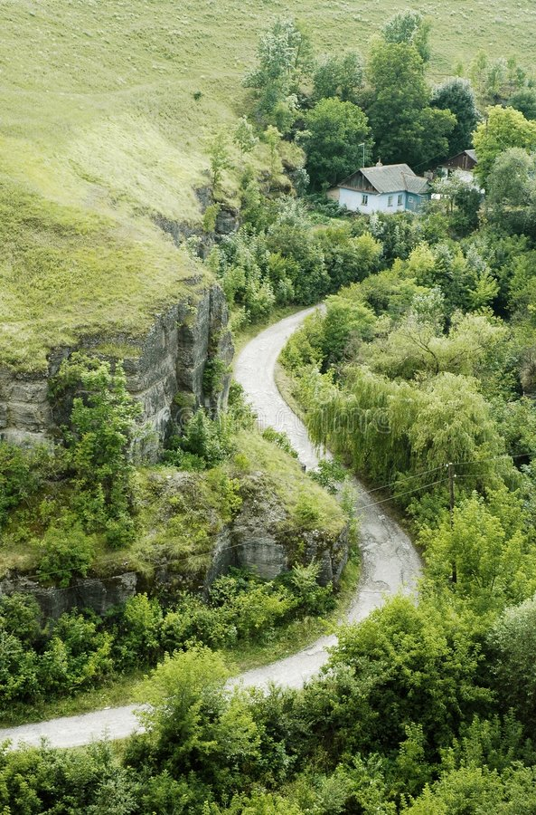 Download Road to home stock image. Image of zigzag, rocks, green - 3150415