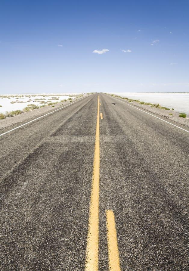 Download Road to the horizon stock photo. Image of salt, nobody - 7085216