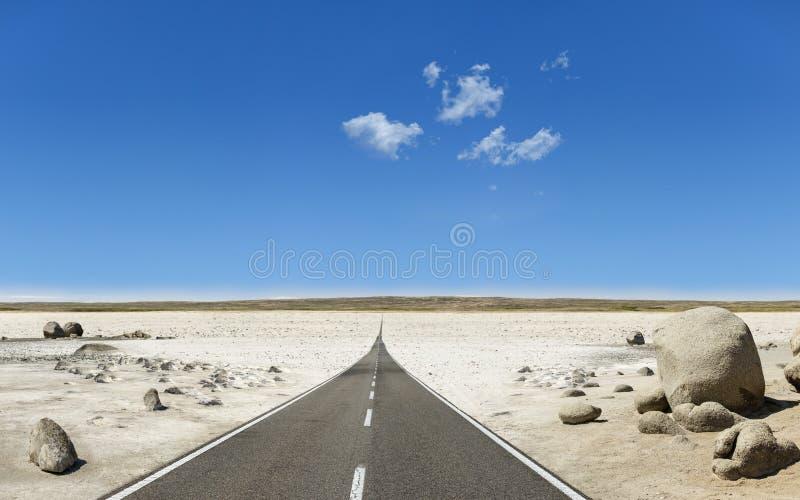 Road to horizon vector illustration