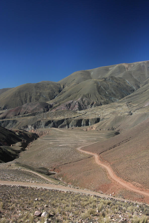 Road to Iruya through mountains royalty free stock image