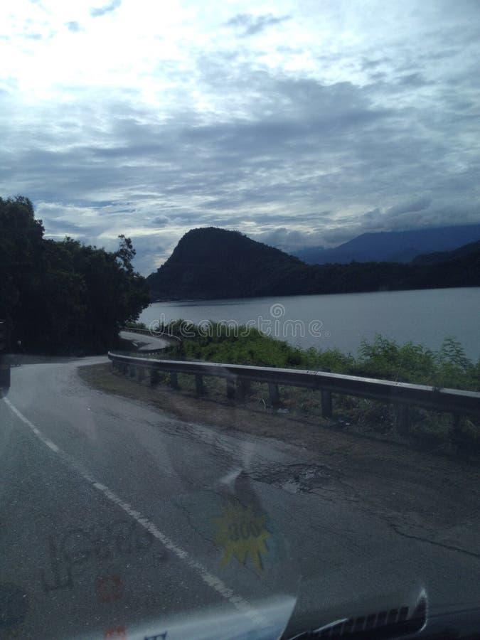 Road to Jayapura. Lake Side Sentani stock photos