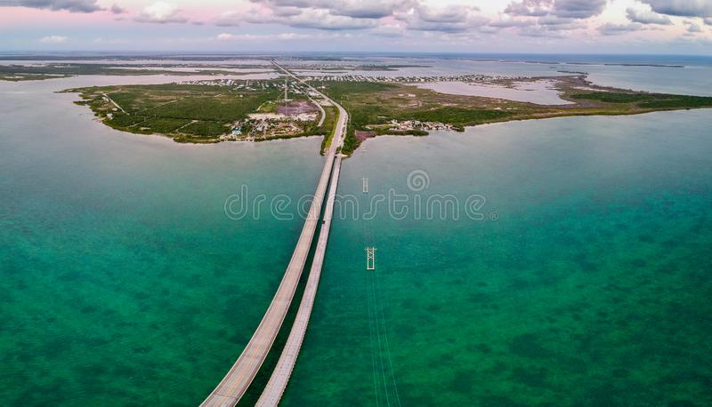 Road 1 to Key West in Florida Keys, USA. Road 1 to Key West in Florida, USA stock image