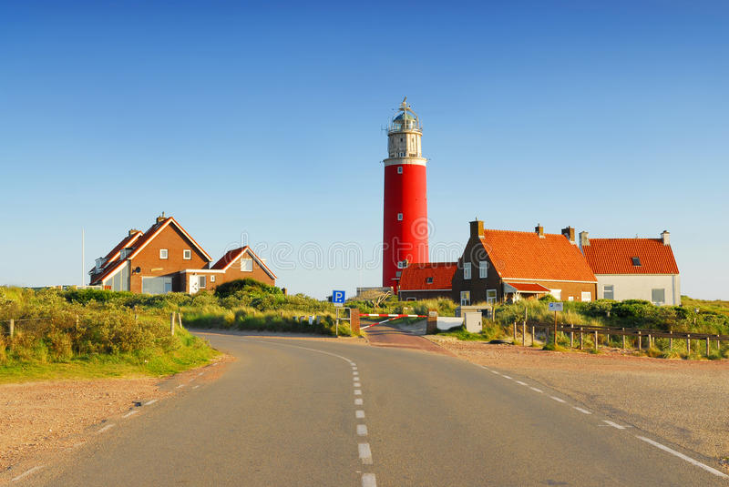 Road to lighthouse royalty free stock photo