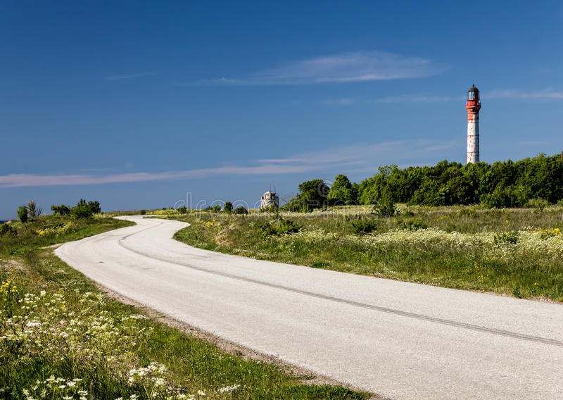 Road to the Lighthouse stock images