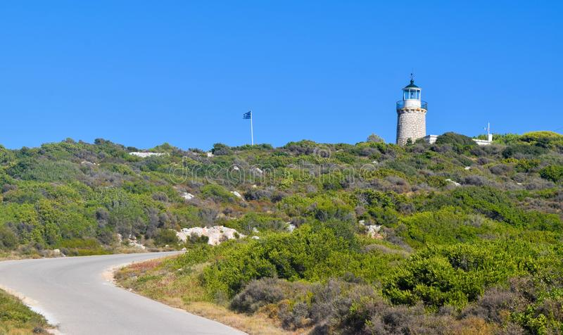 The road to the lighthouse. stock image