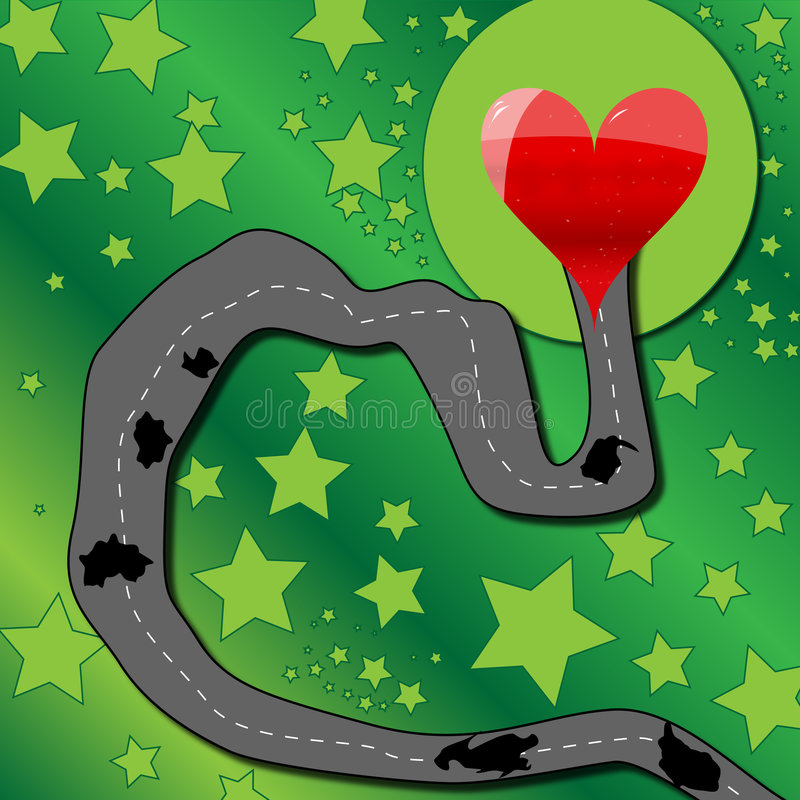 Road to love heart royalty free stock images