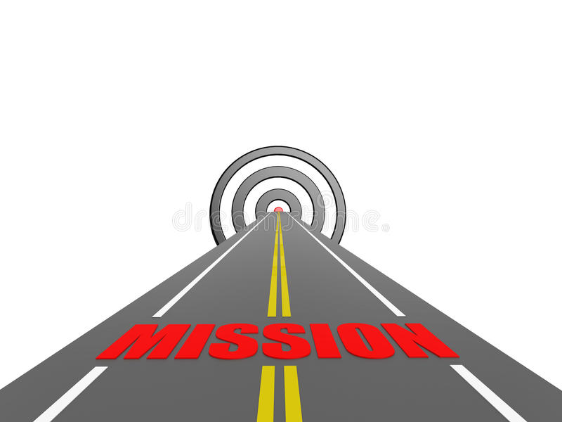 Road to mission vector illustration