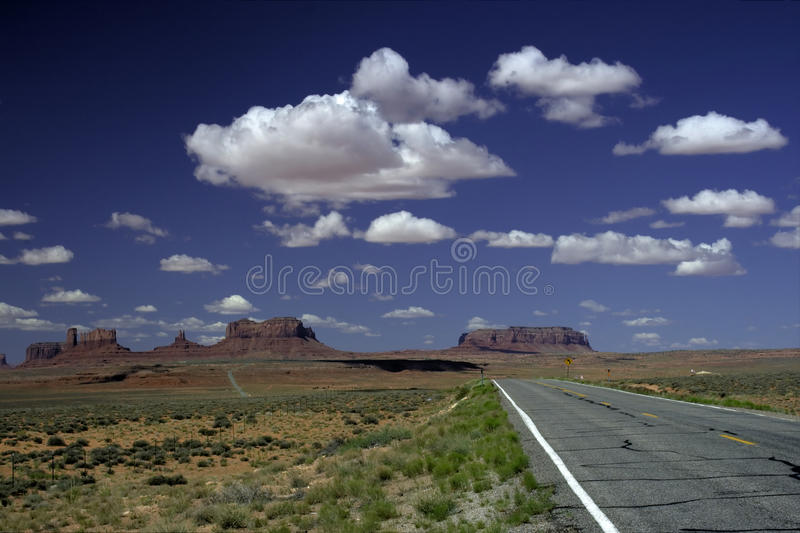Download Road to Monument Valley stock photo. Image of mountain - 14850912