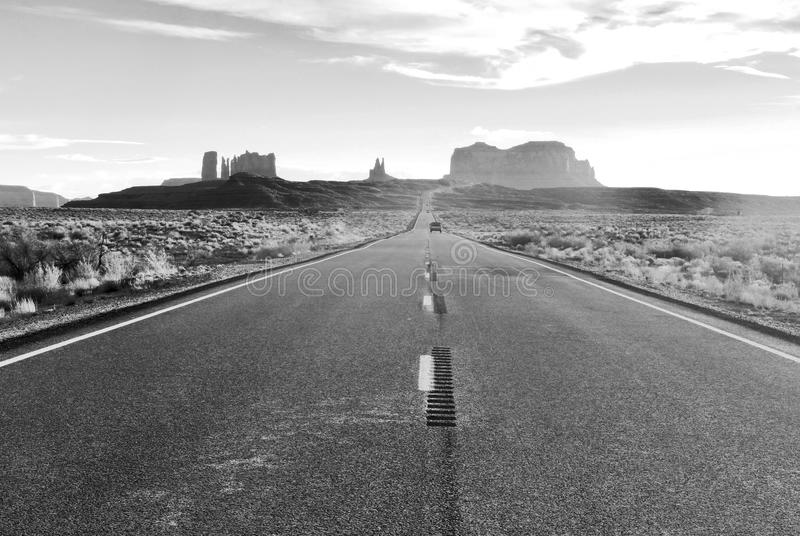 Road to the Monument Valley. stock photos