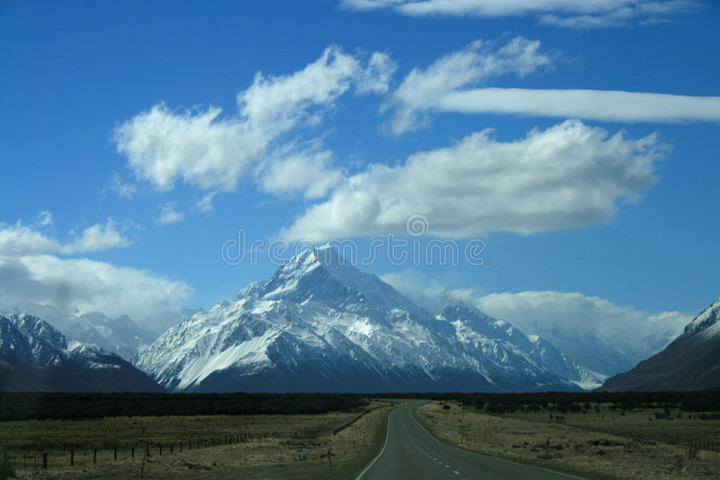 Download Road To Mount Cook, New Zealand Stock Photo - Image: 6512820