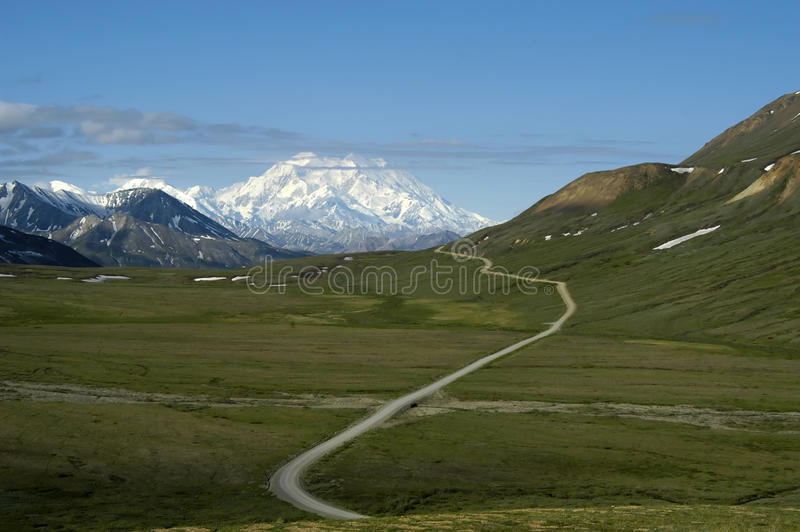 Download Road to Mount McKinley stock image. Image of mckinley - 13488551