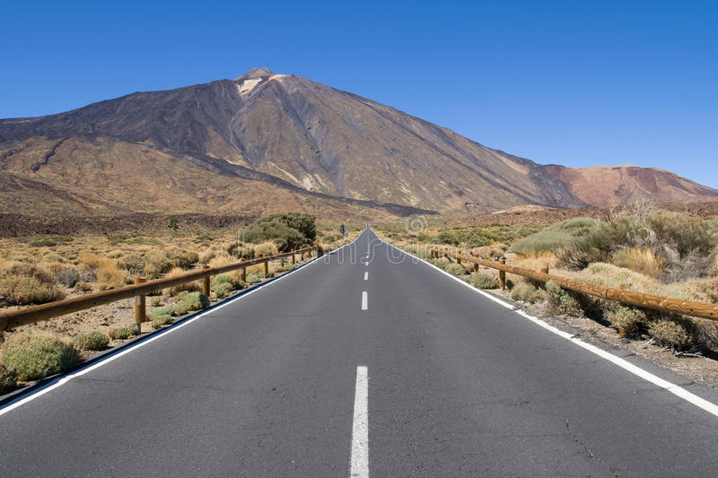 Download Road to Mount Teide stock photo. Image of volcano, tenerife - 28742538