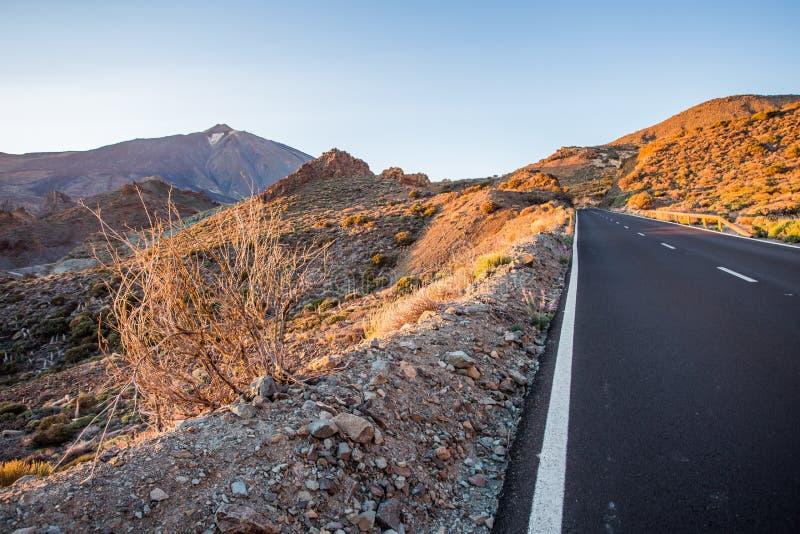 Road to the mountain El Teide,Tenerife stock image