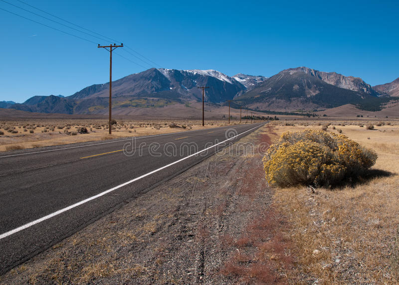 Road to the mountains royalty free stock photos