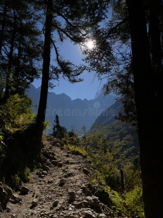 Download Road to mountains stock photo. Image of himalayas, rock - 17070406