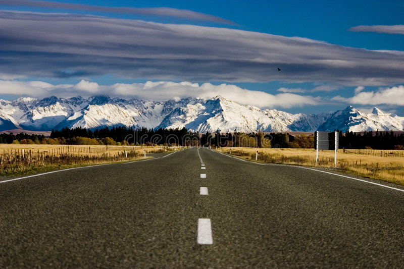Road to Mt Cook royalty free stock photos