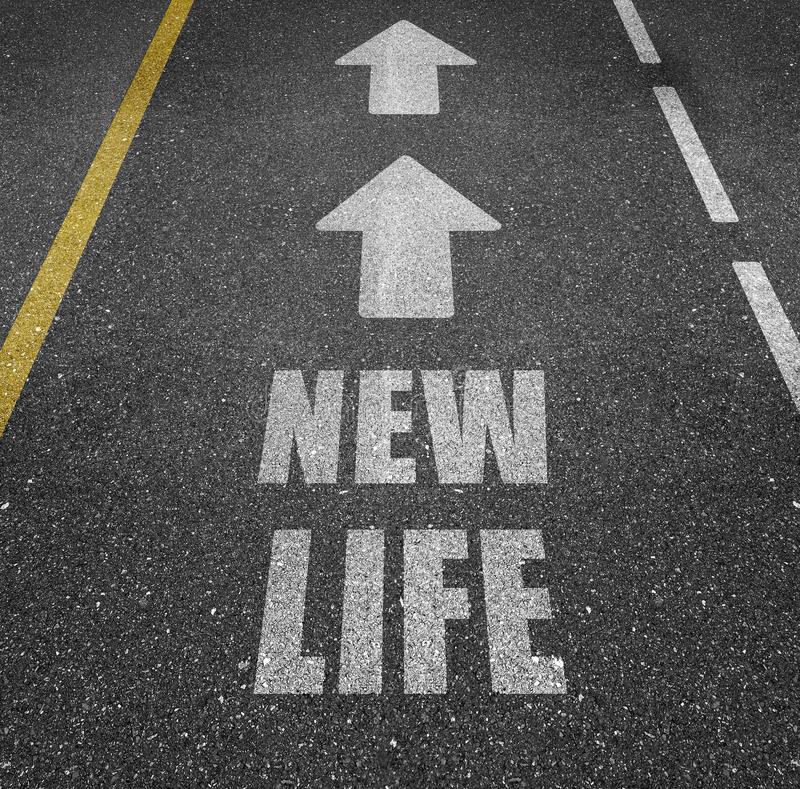 Road to new life royalty free stock photo