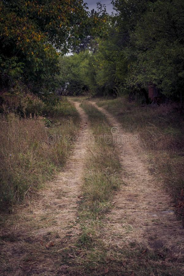 A road to nowhere. A road to somewhere, or maybe to nowhere royalty free stock images
