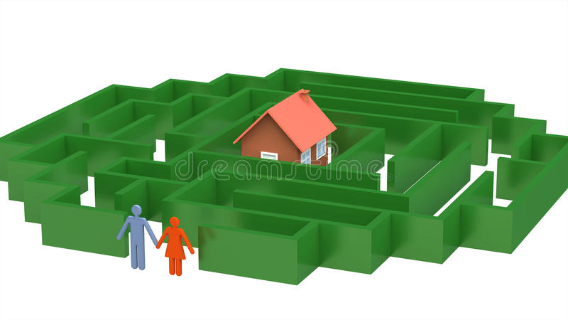 Download Road to the own house stock illustration. Illustration of puzzle - 14111344