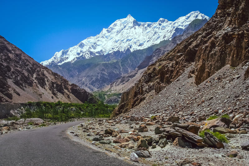 Road to Rakaposhi royalty free stock photos