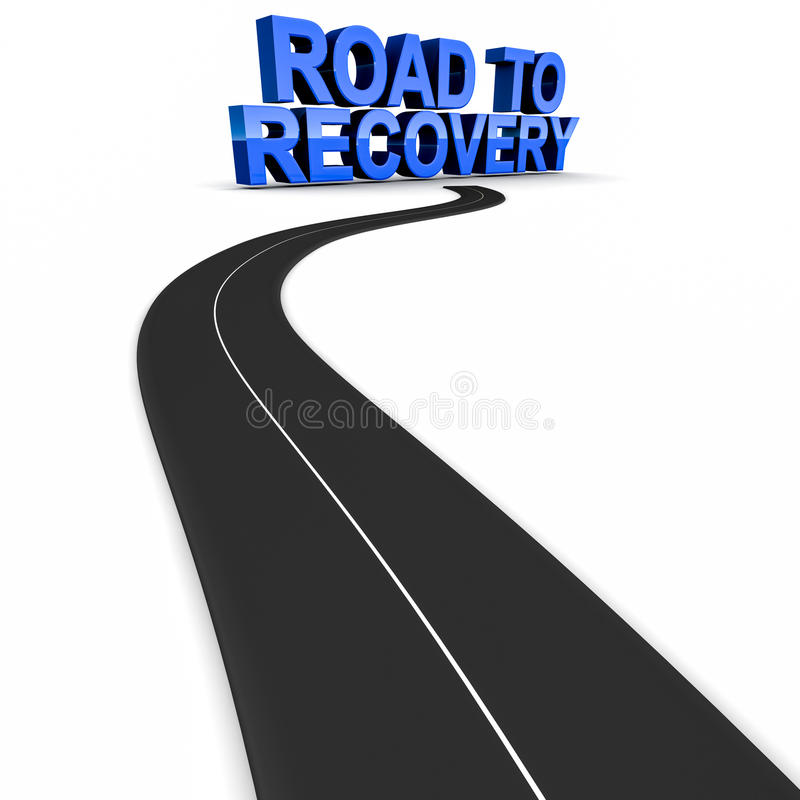 Road to recovery royalty free illustration