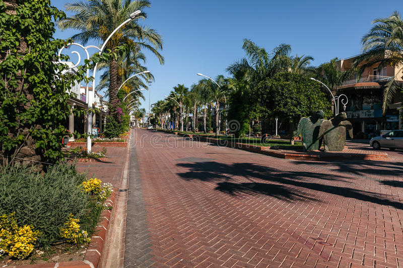 The road to resort town of Turkey. Belek stock images