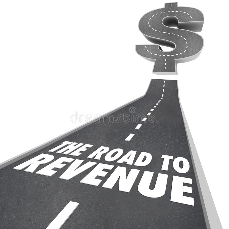 Road to Revenue Making Money Income Job Earning stock illustration