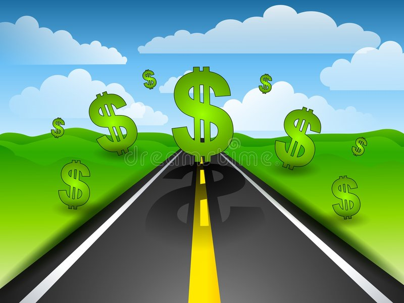 Download The Road To Riches stock illustration. Illustration of images - 4504475