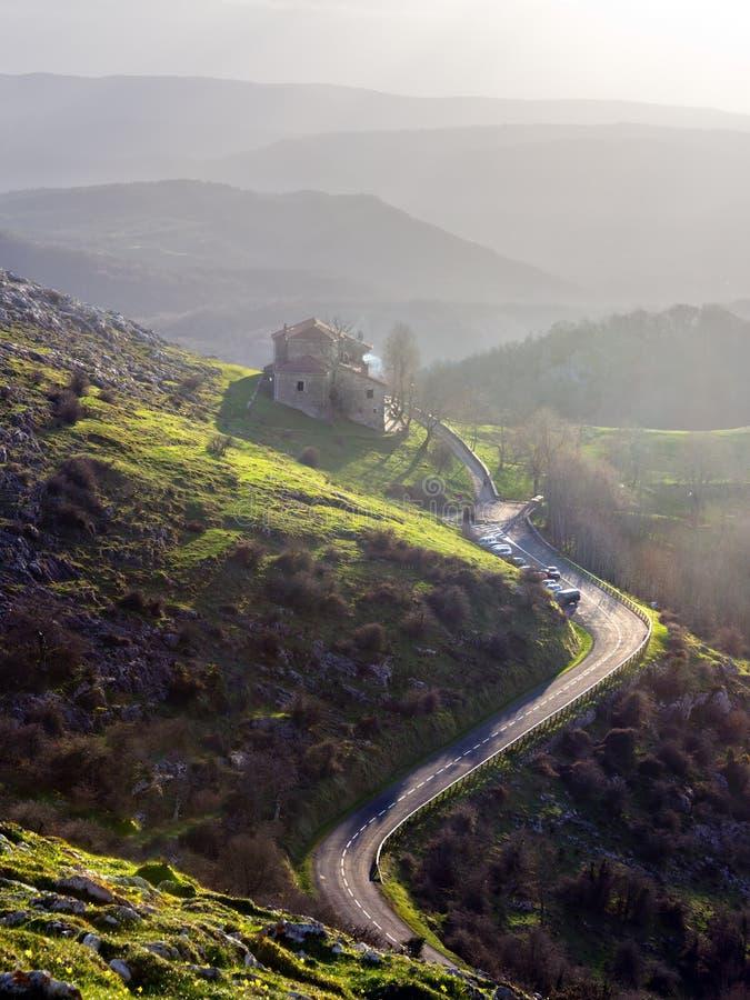 A Road To Sanctuary Of Virgen De Oro Stock Photos