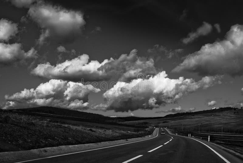 Road to Sighisoara royalty free stock image